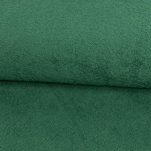 Stoffe Werning Frottee Uni einfarbig tannengrün Bademantelstoff Handtücher Badetücher - Preis Gilt für 0,5 Meter