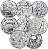 Privateer Series Complete Collection of 7 Stunning Ultra High Relief 2 OZ Silver Rounds