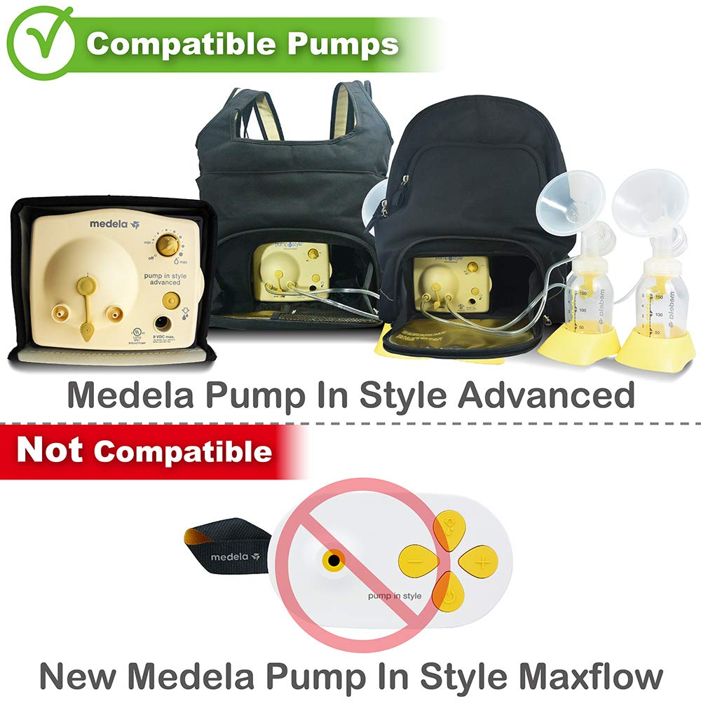 Nenesupply Pump Parts Compatible with Medela Pump In Style Breastpump 2 Medium 24mm Breastshield 4 Valve 8 Membrane 2 Tubing Replacement Kit for Medela Pump Parts Replace Medela Flange