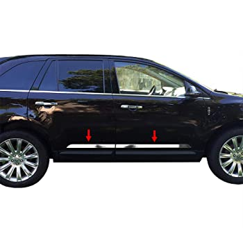 Works with 2007-2014 Lincoln MKX//Ford Edge 8PC Stainless Steel Chrome Pillar Post Made in USA