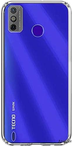 Amagav Shock Proof Camera Protective Soft Back Case Cover for Tecno Spark Go 2020 Transparent