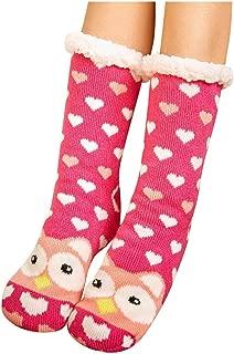Christmas Women Carpet Socks Cotton Slipper Winter Warm Thick Print Funny Novelty Fuzzy Cozy Crew Sock Xmas Gift Girl