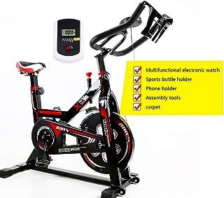 Nfudishpu Indoor Cycling Bike, Silent Belt Drive Cycle Bike with Adjustable Handlebars & Seat, Chromed Flywheel, 4-Functio...