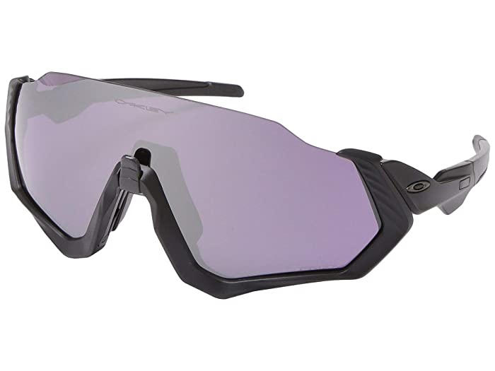 Oakley  37mm Flight Jackettm (Matte Black with PRIZM Road Black) Fashion Sunglasses