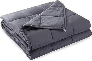 Anjee Gewichtsdecke Schwere Decke für Erwachsene mit einem Schlafgewicht von 57-100 kg, Baumwolle 6,8 kg, 150 x 200 cm