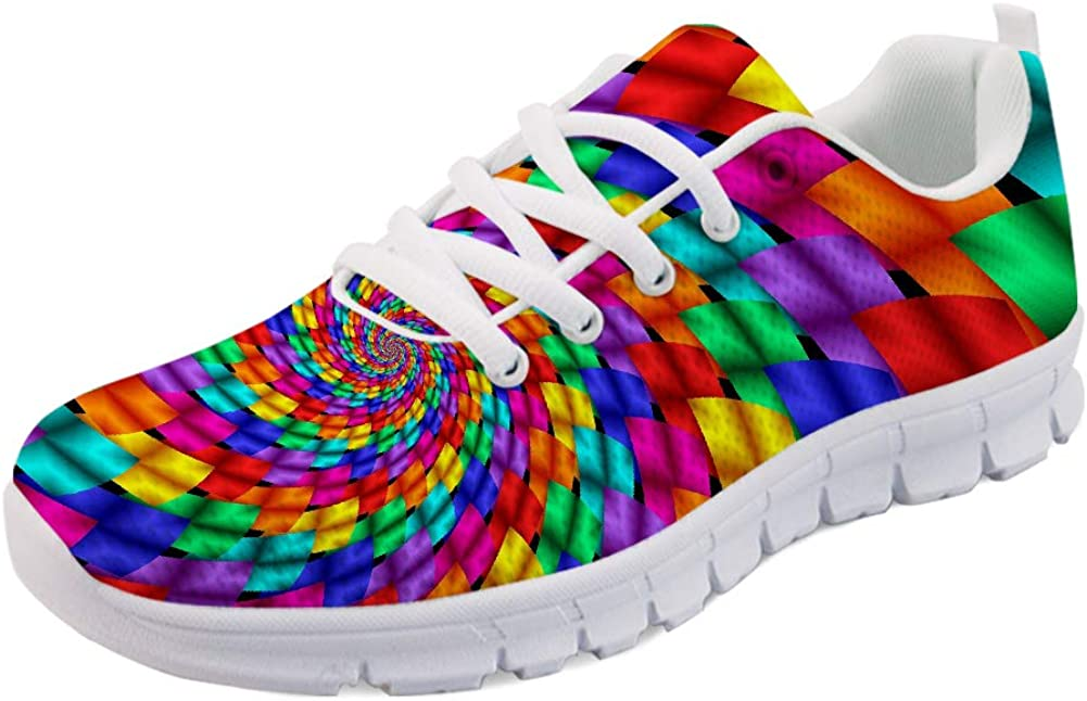 HUGS IDEA Air Mesh Lightweight Challenge the lowest price of Japan New mail order ☆ Road Sneakers Womens Comf Running