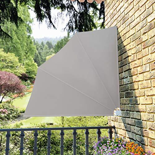 FAMIROSA Toldo Lateral Plegable de balcón Color Crema 140x140 cm