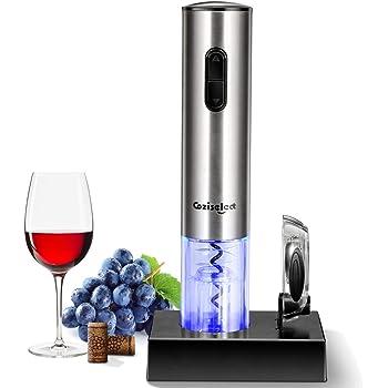 Coziselect Tire Bouchon électrique, Ouvre-vin automatique professionnel, Ouvre-bouteille avec Coupe-papier, Boîte-cadeau