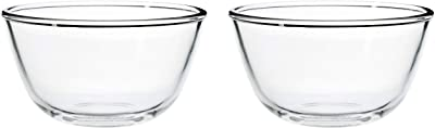 Amazon Brand - Solimo Mixing/Serving Borosilicate Solid Glass Bowl Set (2 pieces, 550ml_Transparent)
