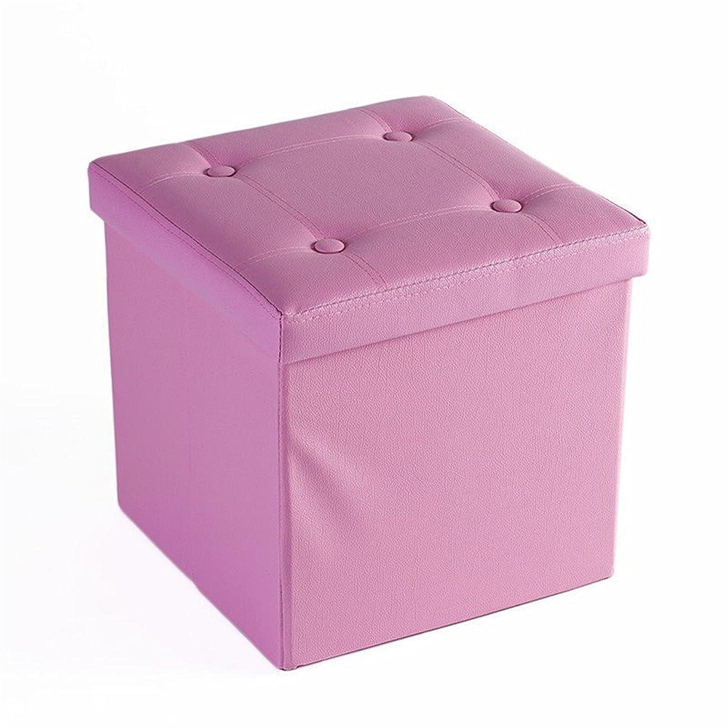 懲戒拒絶聖なる収納スツール 一人掛け オットマン 収納ボックス コンパクト スペース活用 高品質 PUレザー 合皮