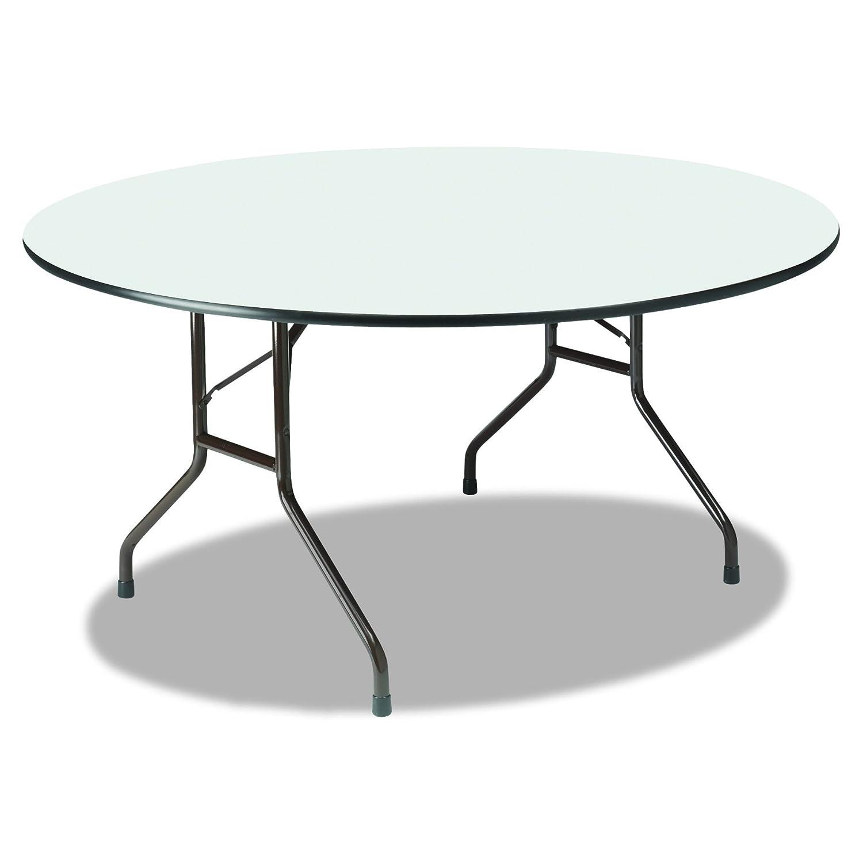 Amazon Com Iceberg Ice55267 Round Premium Wood Laminate Folding Table 60 Diameter X 29 Height Gray Industrial Scientific