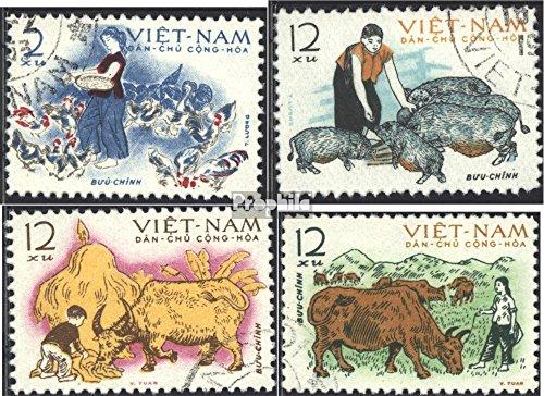 Prophila Collection Vietnam 236-239 (kompl.Ausg.) 1962 Aufzucht von Haustieren (Briefmarken für Sammler) Säuger Sonstige