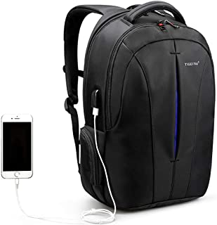 Business Slim Laptop Backpack for Women & Men, Anti Theft Travel Computer Bag with USB Charging Port Fits 15.6 inch Laptop, Water Resistant College School Bookbag