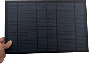 TOTAMEND Solar Panel | 556mA 10Watt 10W Solar Panel Standard PET polycrystalline Silicon Charge for 12V Battery Charge Module Mini Solar Cell