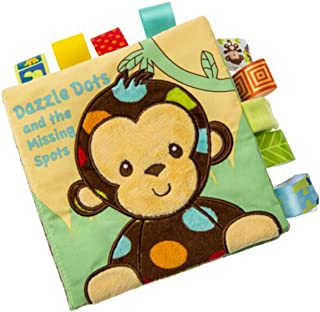 LALANG Baby Cartoon Animal Embroidery Tearing Not Bad Cloth Book Child Visual Development Toy Awakening Book Educational Toys(Monkey)