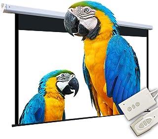 Projector Screen 100 Inch Electric Projector Screen 16:9 HD Outdoor Indoor Projector Movies Screen Portable Projector Scre...