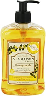 A La Maison de Provence Liquid Bath and Hand Soap Honeysuckle - 16.9 oz (2 Pack)