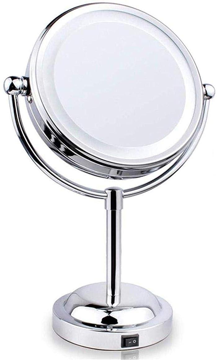 鋸歯状無法者サッカーLED化粧鏡360度デスクトップクリエイティブラウンドミラー3X / 5X浴室化粧鏡3X-3Xクリスマスギフト