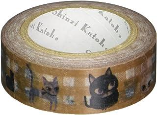 シール堂 [ ks-mt-10113 catcatcat3 ]  シンジカトウ Parisランタン マスキング テープ Plus   Shinzi Katoh masking tape 日本製
