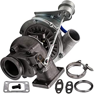 maXpeedingrods Hybrid T3 T4 T3/T4 T04E Universal Turbo V-band 0.63 A/R, T03 T04 Turbocharger Internal Wastegate for 2.0L-3.5L Engines Oil Cooled Turbine