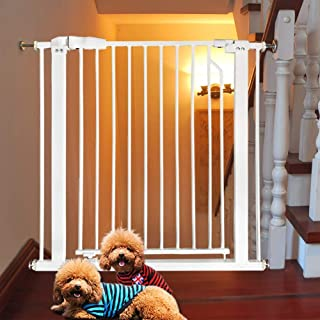 HDGZ Doorways/Hallways/Stairs Safety Pet Gate, Extra Tall Durable Dog Gate Fits Most Spaces, Pressure Mount Fastening, 78c...