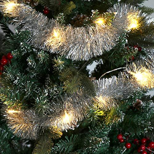 com-four® 3X Girlande Weihnachten - Tannengirlande für eine perfekte Weihnachtsdekoration - Weihnachtsdeko für Christbaum - 270 cm