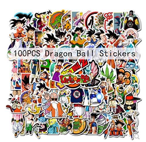 ZJJHX Anime Dragon Ball Graffiti Pegatinas Scooter eléctrico Locomotora Equilibrio Coche Pegatina para Casco Impermeable 100 Hojas