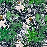 Tela de viscosa, color verde jungla, tela de moda, precio por 0,5 metros