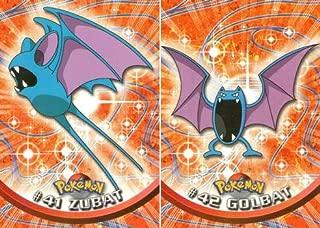 Pokemon Zubat and Golbat Card Evolution Set (Topps #41 and #42)