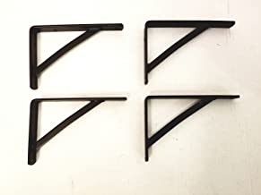 Wrought Iron Small Shelf Brackets 4 Pack - Hand Made by Amish of Lancaster County PA