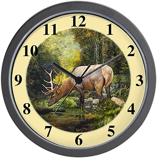 CafePress Elk Unique Decorative 10 Wall Clock