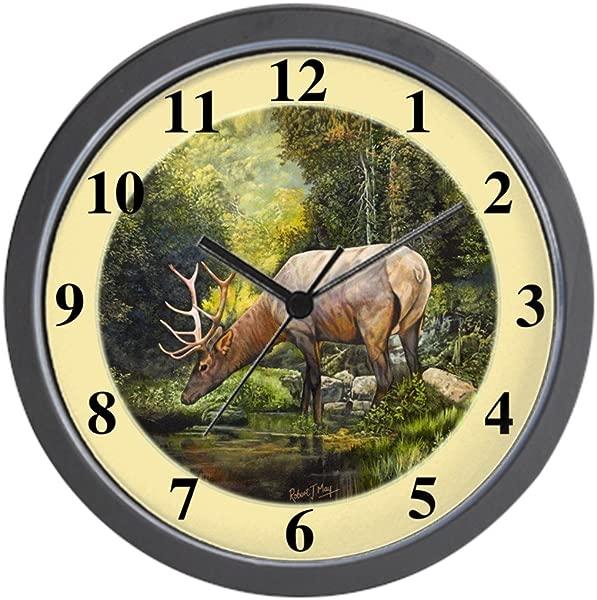 CafePress Elk Unique Decorative 10 Wall Clock
