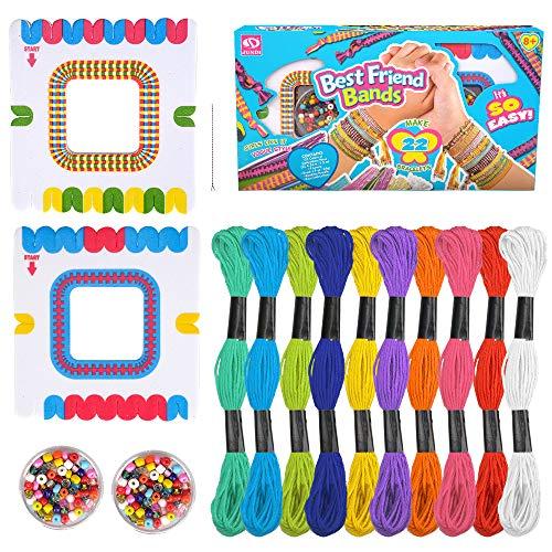 Pulseras de la amistad haciendo kit regalos para niñas niños, artes y manualidades joyas juguetes para niñas niños de 5 a 9 años ideas de regalos juegos juguetes para niños adolescentes de 6 7 8 años