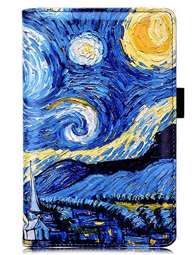 "YOMFUN Server Book Organizer for Waitress Book,Blue Van Gogh Waiter Serving Book, Waitstaff Book Waiter Book Server Guest Book Server Wallet Waitress Checkbook 5X7.7""(Starry Night)"