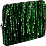 Sidorenko Laptop Tasche für 15-15,6 Zoll | Universal Notebooktasche Schutzhülle | Laptoptasche aus Neopren, PC Computer Hülle Sleeve Case Etui, Grün