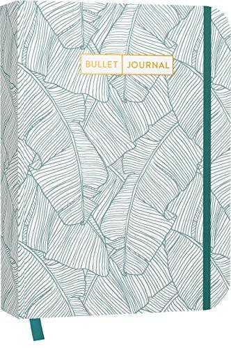 """Bullet Journal """"Jungle Green"""" 05: Mit Punkteraster, Seiten für Index, Key und Future Log sowie Lesebändchen, praktischem Verschlussband und Innentasche"""