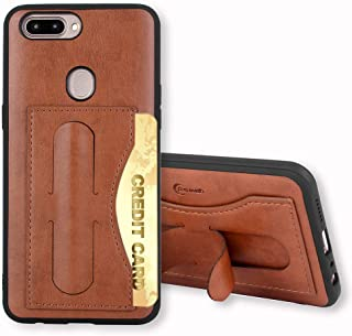 Oppo R11 Case,Phone Cases Wallet Leather with Credit Card Holder Slot Kickstand Stand Heavy Duty Hard Rugged Shockproof Protective Cover for Oppo R11 Women Girls Men Brown