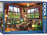 EuroGraphics- Cozy Cabin by Dominic Davison 1000-Piece Puzzle 1000 Piezas. (6000-5377)