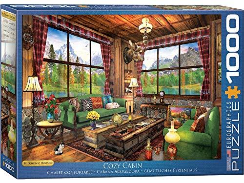 EuroGraphics- Cozy Cabin by Dominic Davison 1000-Piece Puzzle, Multicolore, 6000-5377