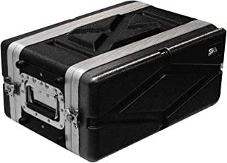 Seismic Audio - SALWR4S - Lightweight 4 Space Compact ABS Rack Case - 4U PA DJ Amp Effects Shallow Rack Case