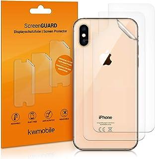 kwmobile 3x Pellicola protettiva posteriore compatibile con Apple iPhone XS- Protezione retro smartphone - Qualità premium