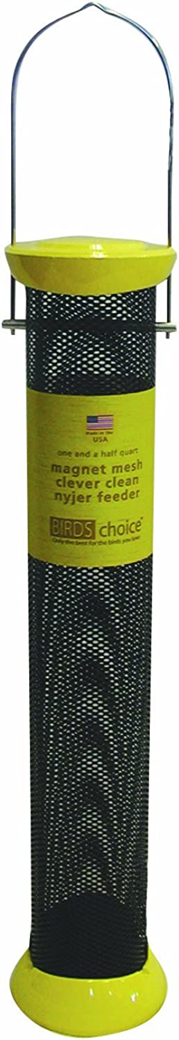 Birds Choice Magnet Mesh Clever Clean Nyjer Feeder, 18Inch