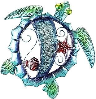 Metal Wall Art Metal Sea Turtle Wall Decor Mosaic Glass Look Coastal Design