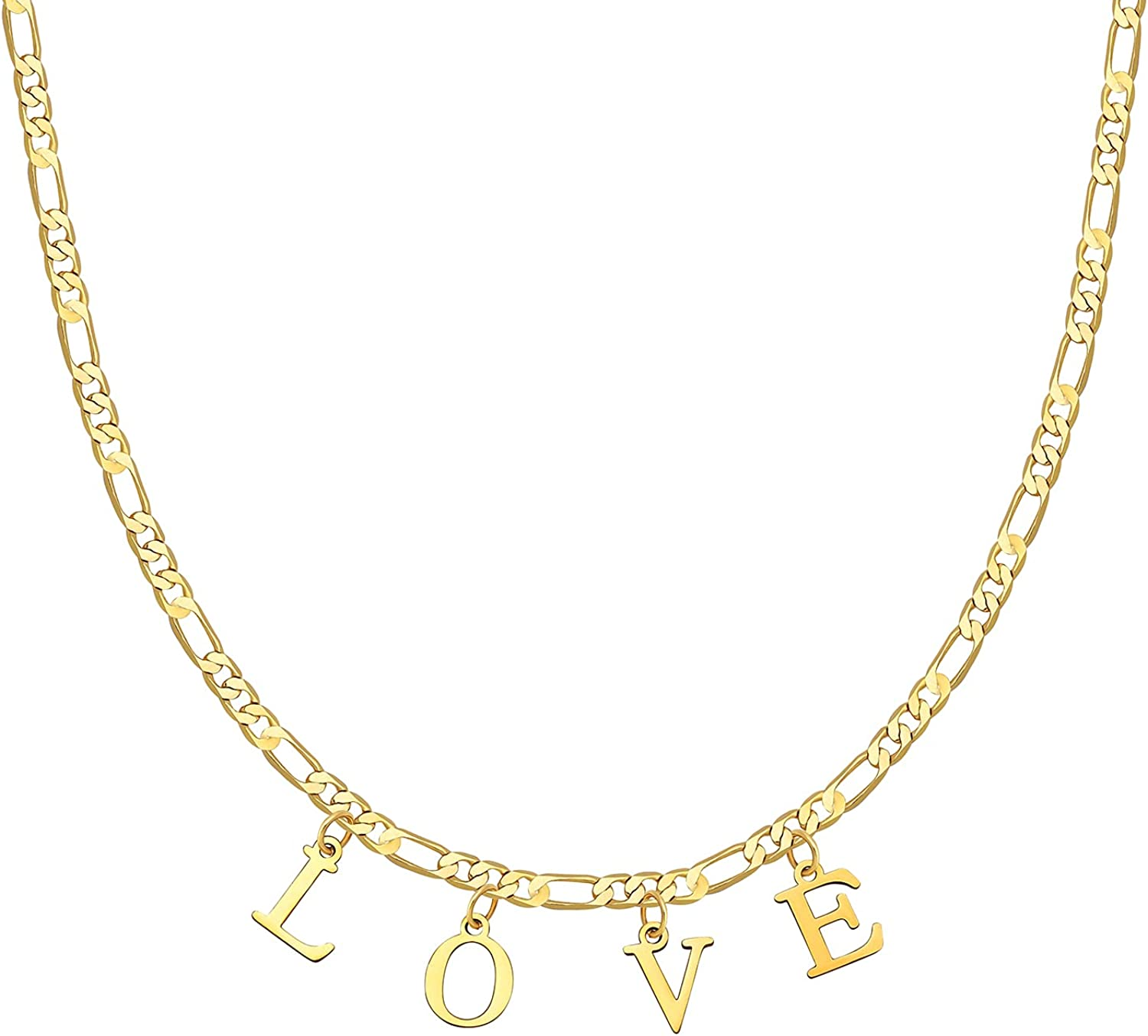 Mama Necklace 18K Gold Plated Figaro Chain Mama Letter Necklace Dainty Mom Necklace Jewelry Gifts for Mom
