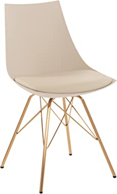 OSP Home Furnishings Oakley Mid-Century Modern Bucket Chair, Cream