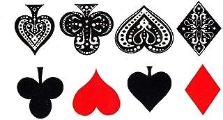 EROSPA® Tattoo-Bogen / Sticker temporär - Poker - Herz, Pi