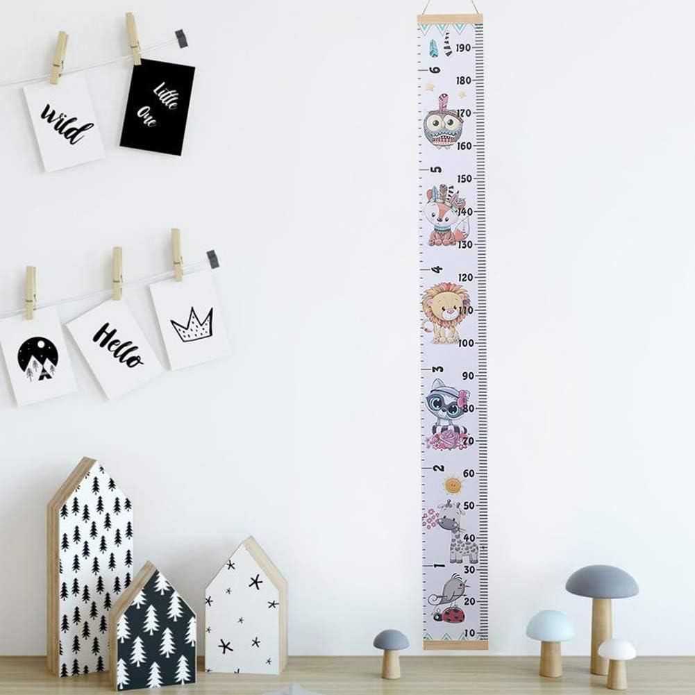 JIESD-Z Tableau de croissance en toile /à suspendre pour enfant avec un joli motif