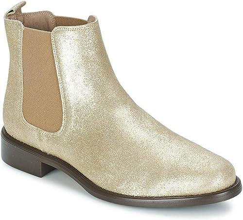 BETTY LONDON Laminate Botines Low Stiefel damenes Gold Stiefel de   Baja