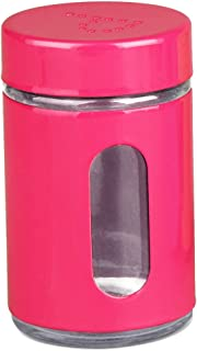 Home Basics Salt OR Pepper Colored Shaker with Clear Window (Pink PEPPER)