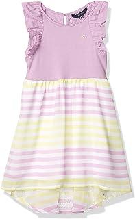 Nautica Girls' Sleeveless High Low Hem Dress